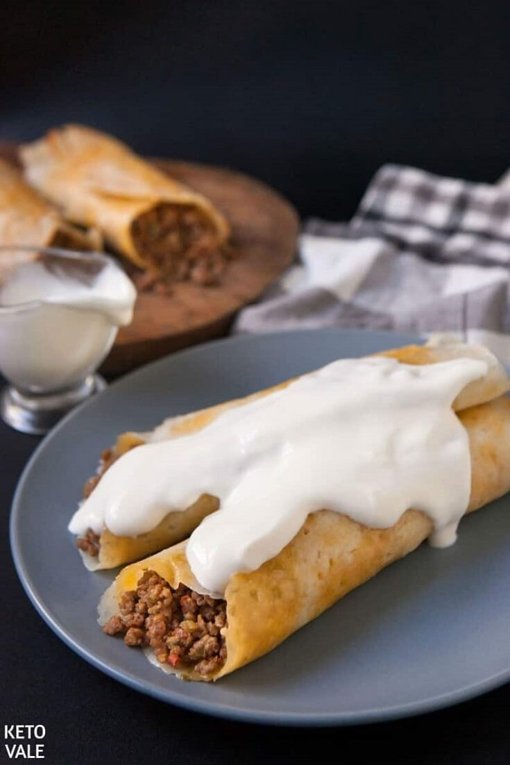 #8 Keto Beef Taquitos with Cheese Taco Shells