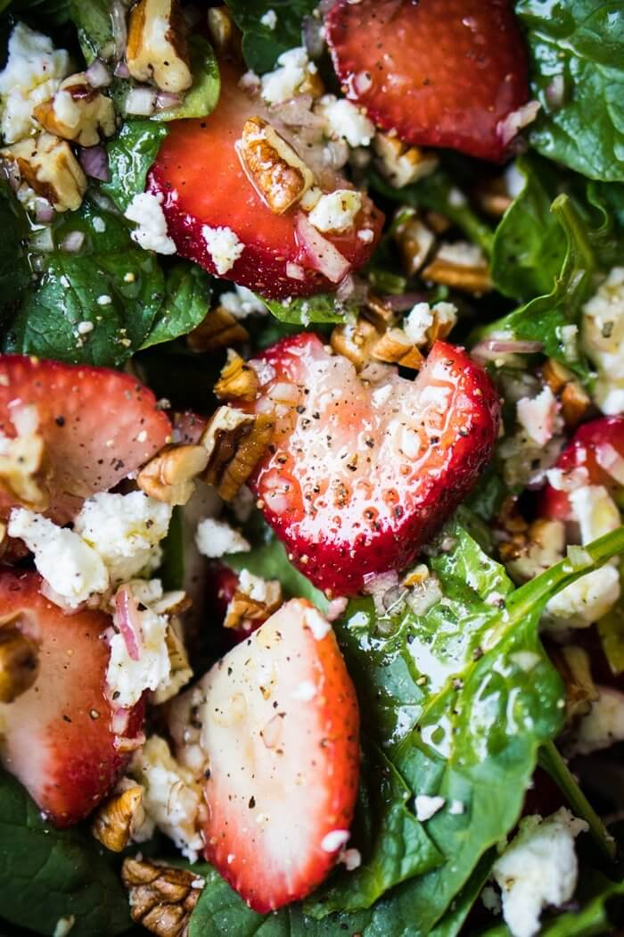 8 Paleo Low Carb Keto Strawberry Spinach Salad