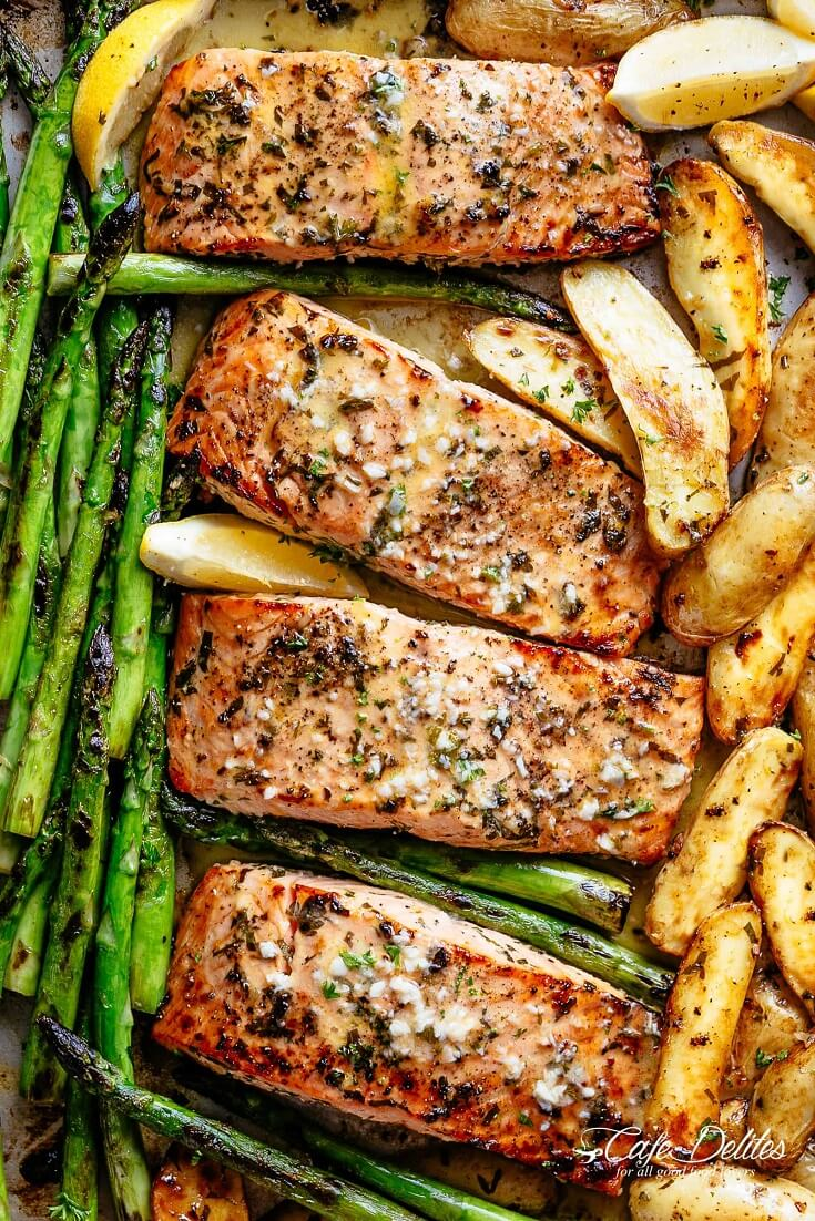 #8 Sheet Pan Garlic Butter Baked Salmon
