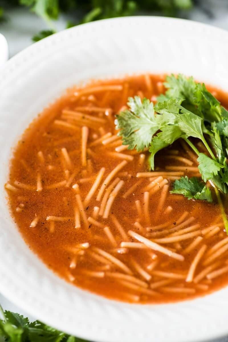 8 Sopa de Fideo Mexican Noodle Soup