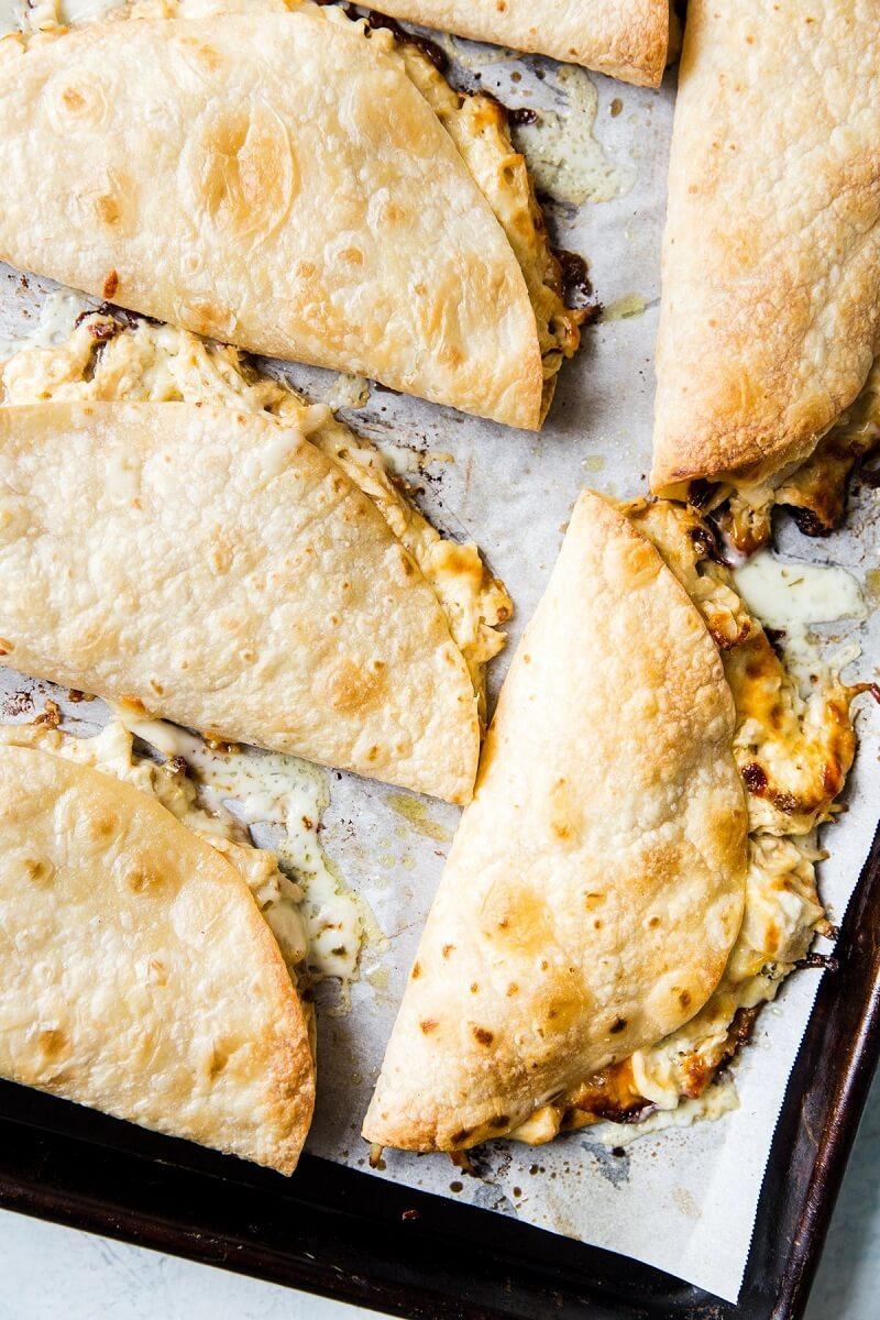 8. Baked Chicken Quesadillas