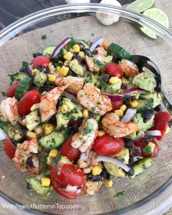 8. Cilantro Lime Shrimp and Avocado Salad