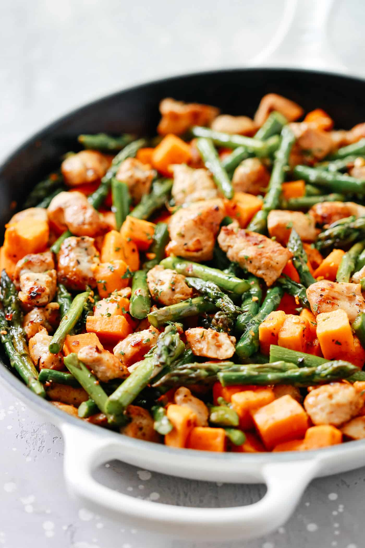 #9 Asparagus Sweet Potato Chicken Skillet