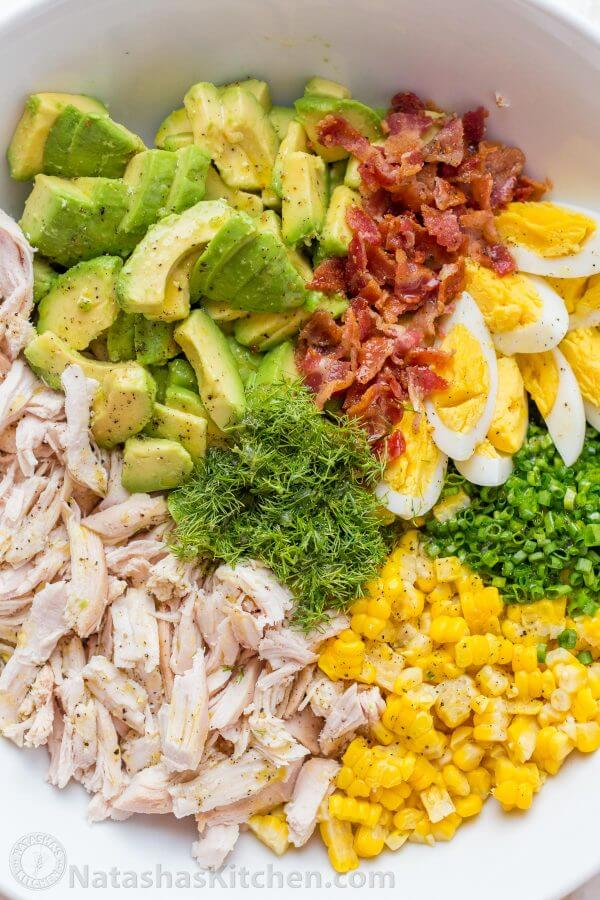 9 Corn Avocado Chicken Salad
