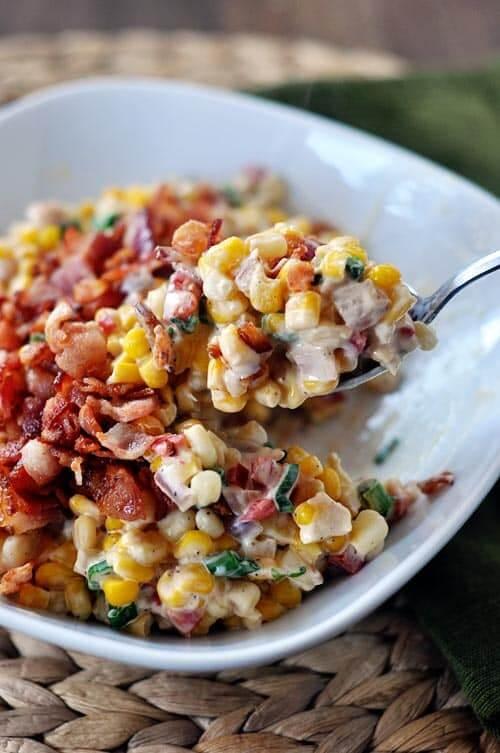 #9 Creamy Confetti Corn With Bacon
