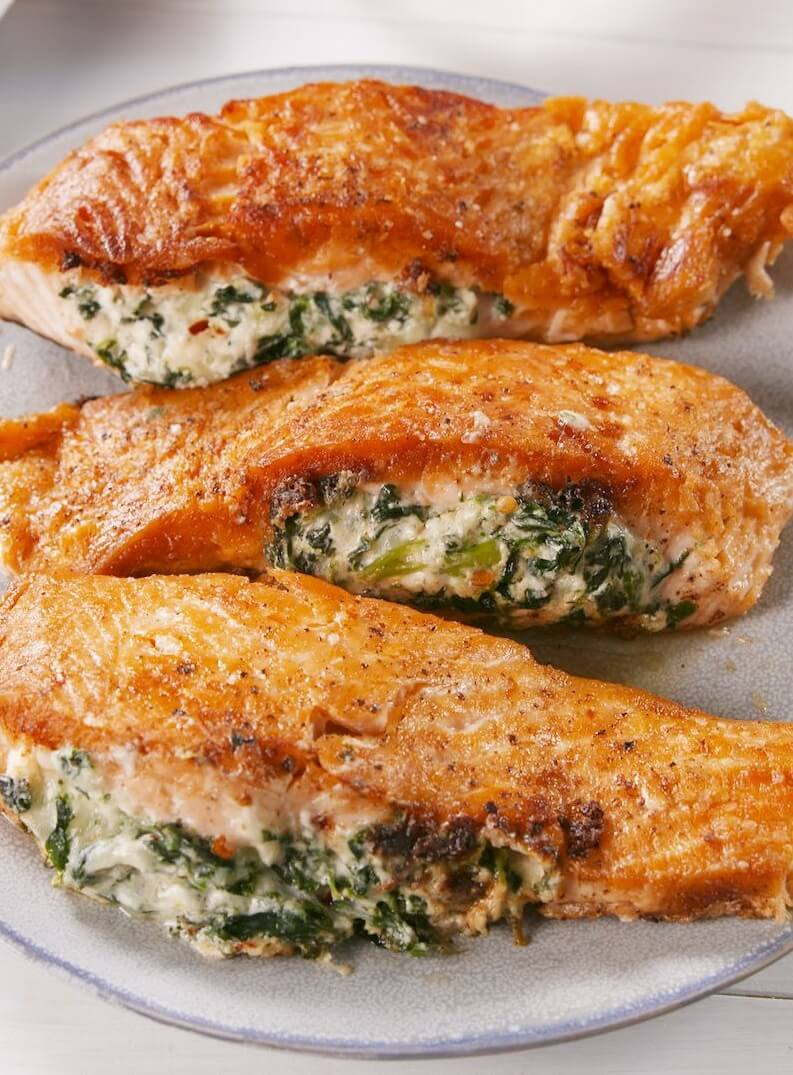 #9 Creamy Stuffed Salmon