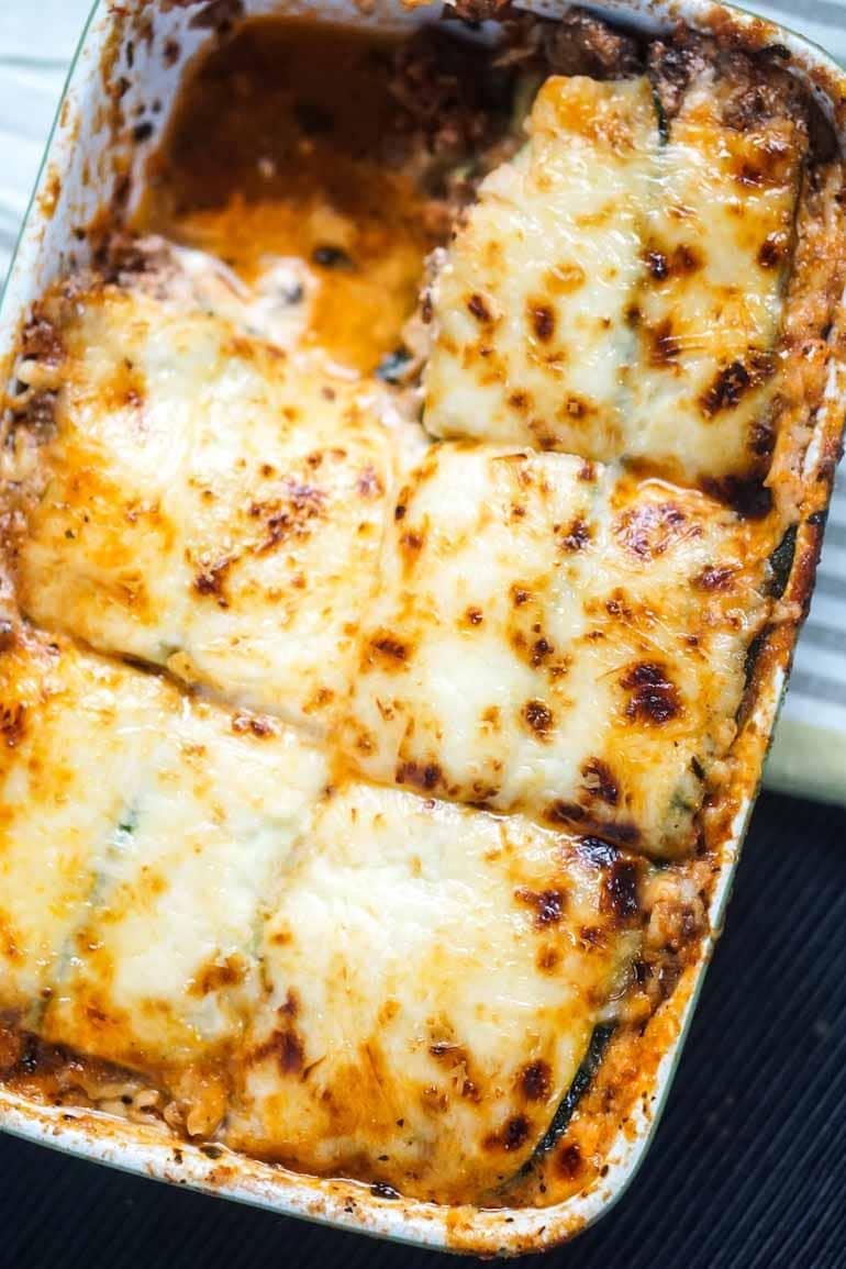 #9 Keto Beef and Zucchini Lasagna