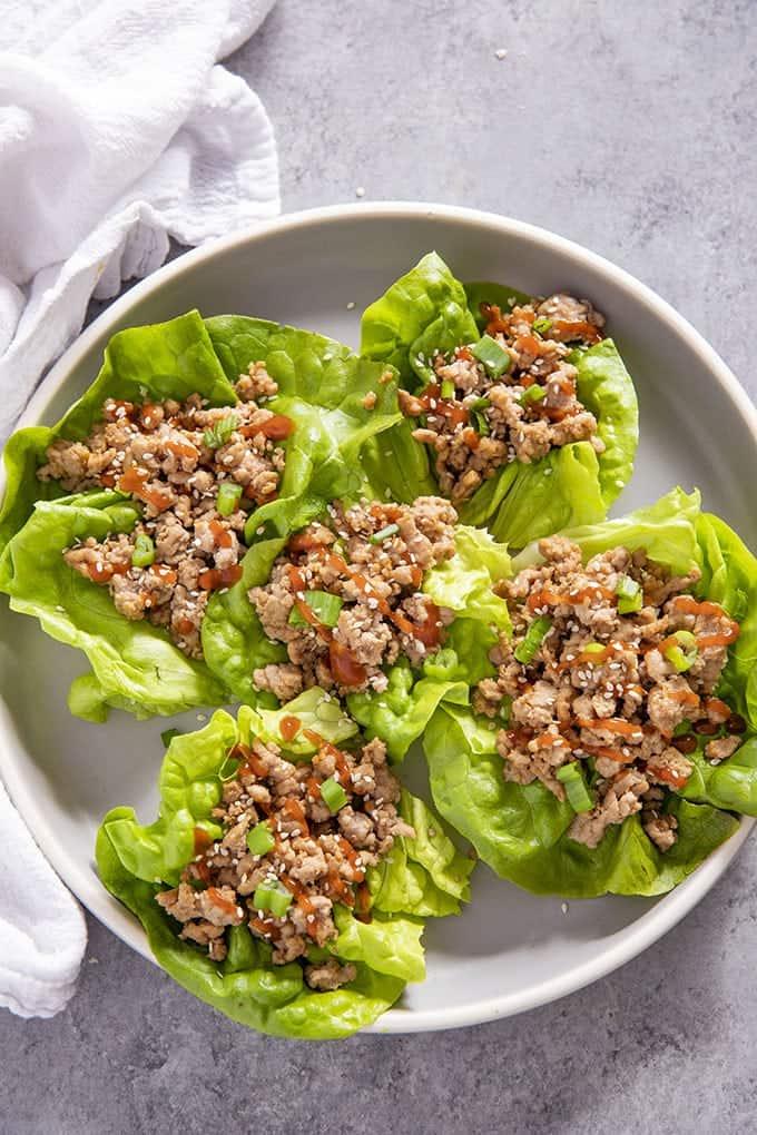 9 Sesame Pork Lettuce Wraps