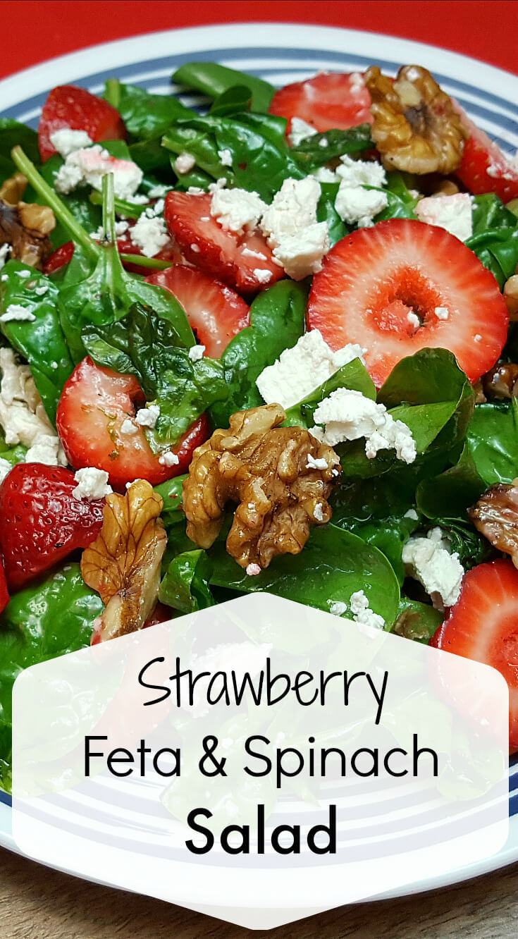 9 Strawberry Feta Spinach Salad
