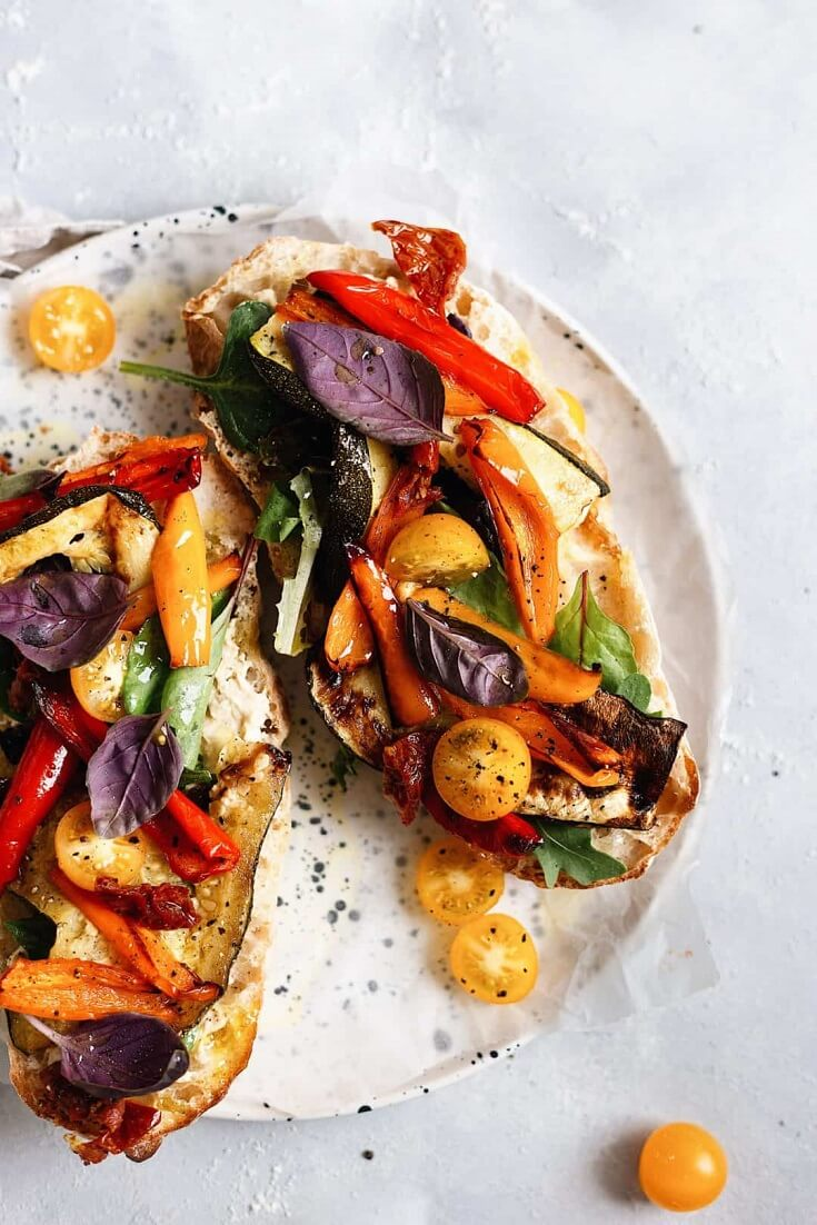 #9 Summer Roasted Vegetable Toasted Sandwich