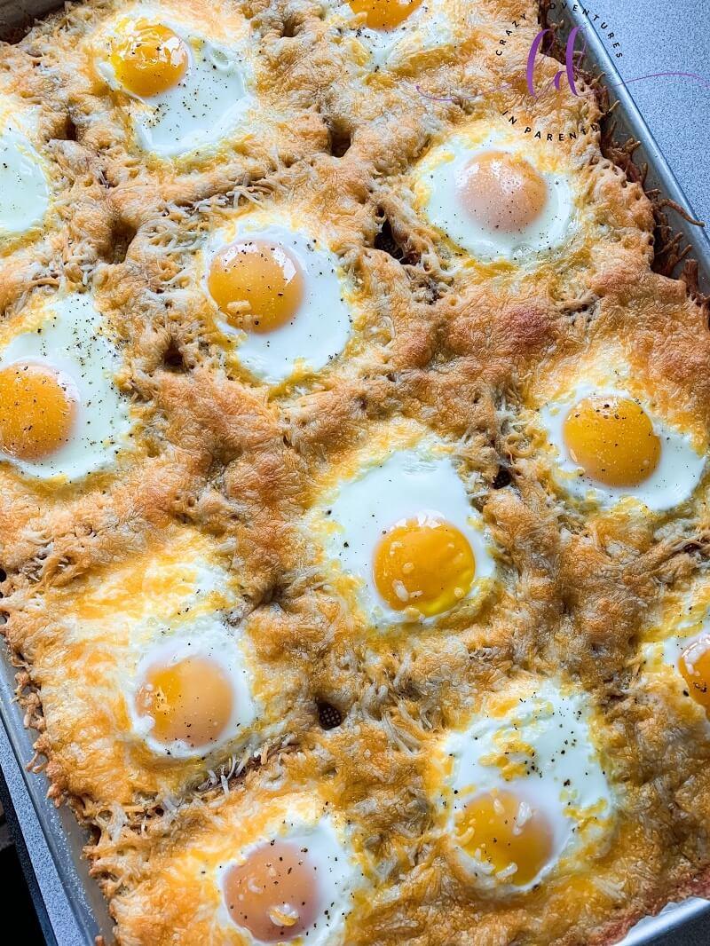 9. Cheesy Baked Egg