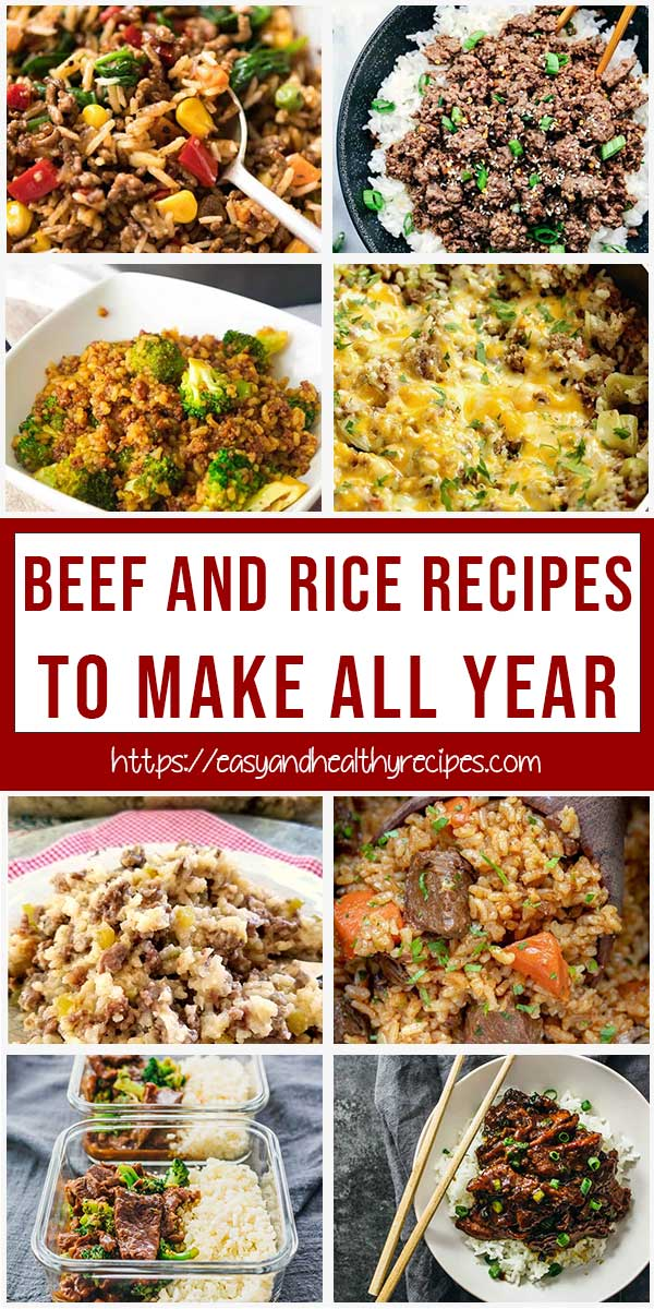 Best Beef And Rice Recipes To Make All Year
