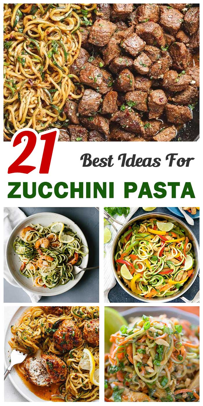 Zucchini Pasta For Summer Time