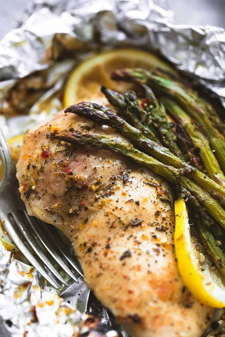 1 Lemon Chicken Asparagus Foil Packs