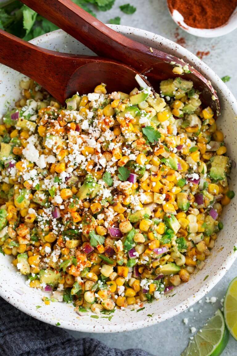 1 Mexican Street Corn Salad with Avocado