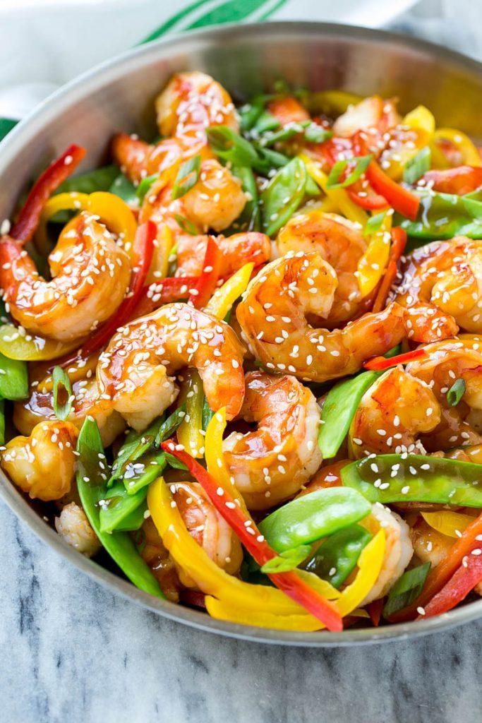 1 Teriyaki Shrimp Stir Fry