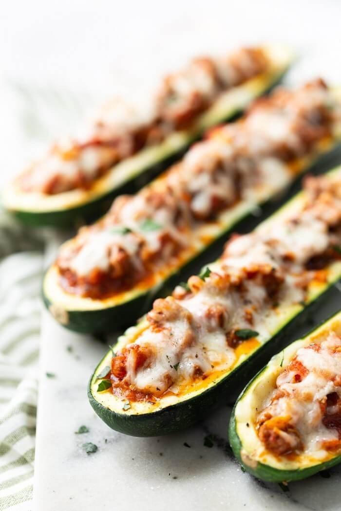 10 Beef Stuffed Zucchini Boats