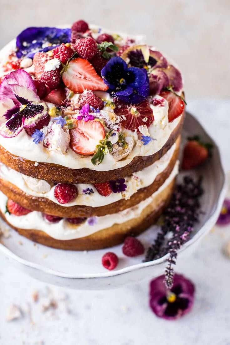10 Coconut Eton Mess Cake with Whipped Ricotta Cream