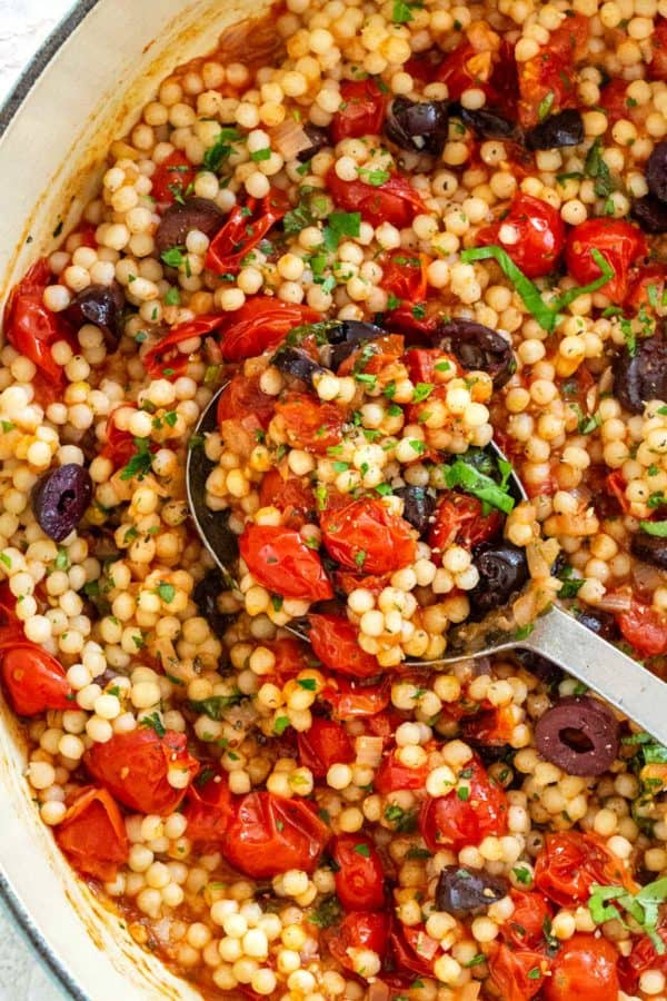 10 Israeli Couscous with Tomato and Olives