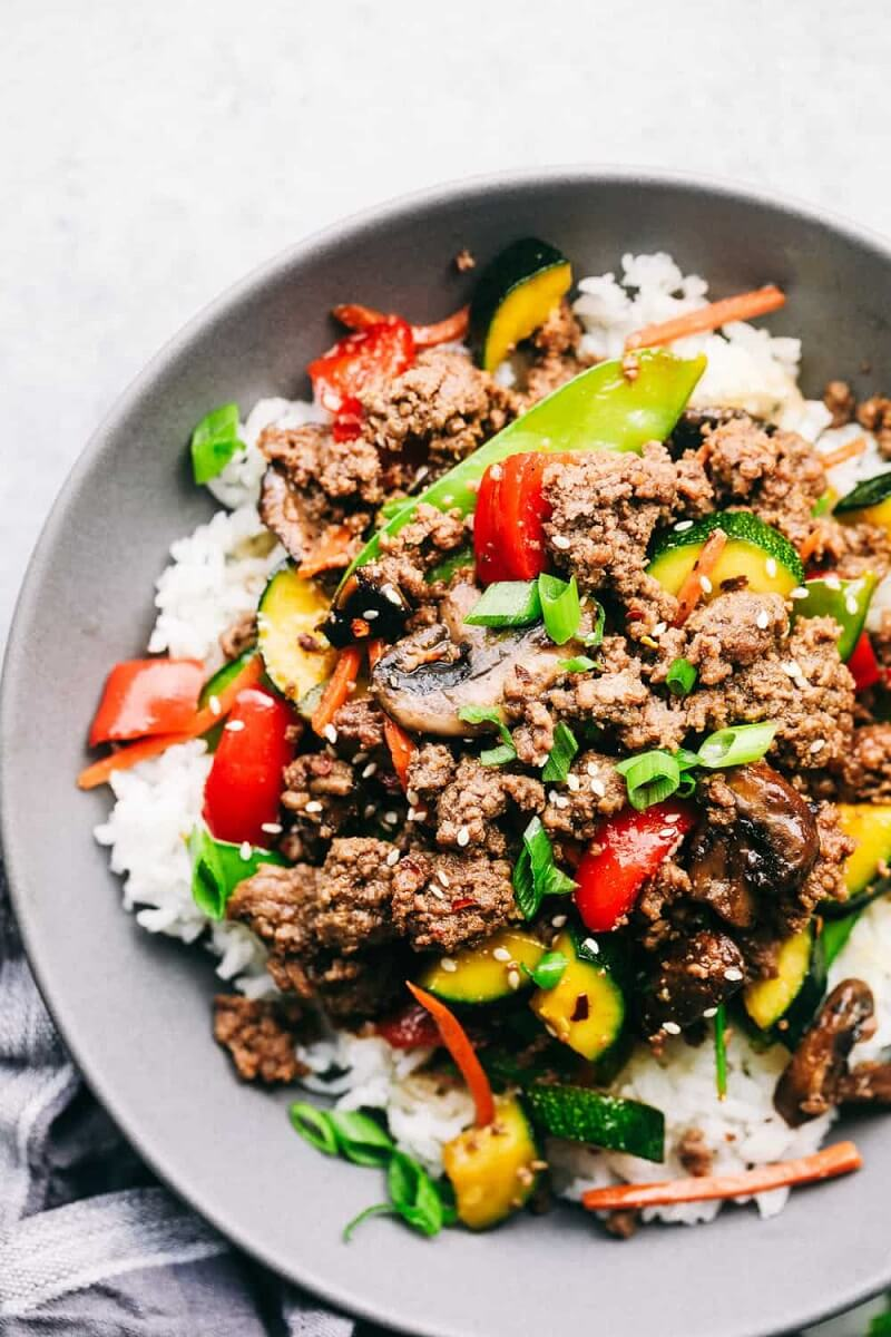 10 Korean Ground Beef Stir Fry