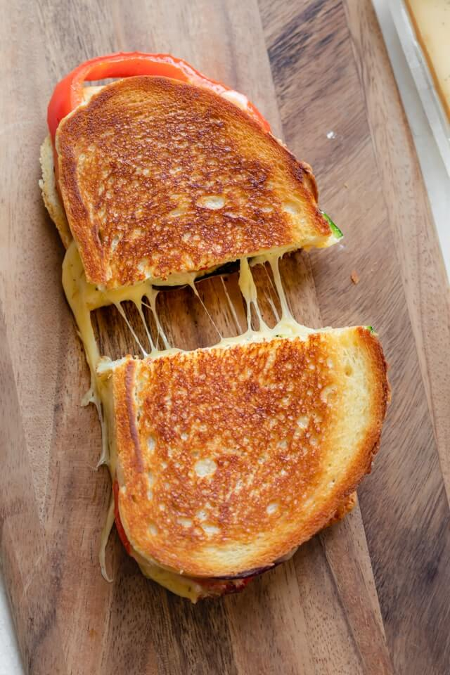 10 Roasted Vegetable Grilled Cheese Sandwich