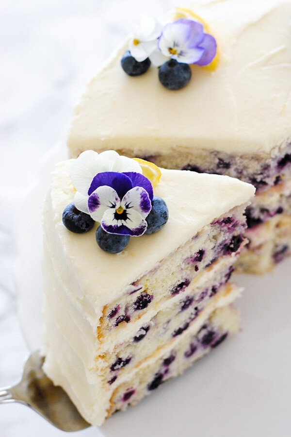 11 Lemon Blueberry Cake with Lemon Cream Cheese Frosting rv