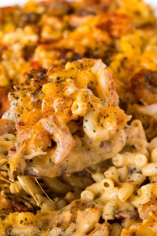 12 Cajun Shrimp and Crab Mac and Cheese