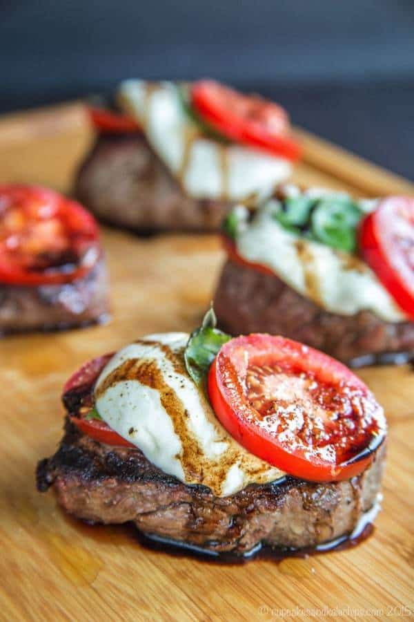 12 Caprese Grilled Filet Mignon