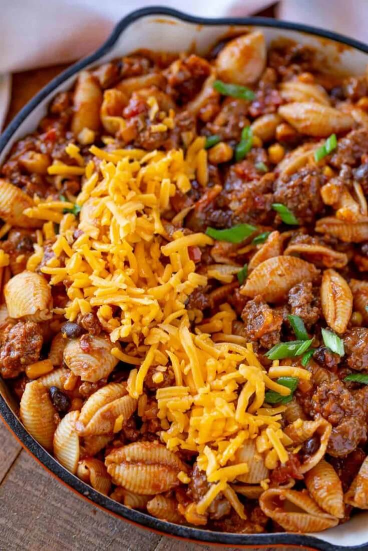13 Cheesy Tex Mex Pasta