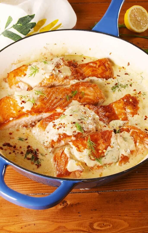 13 Creamy Lemon Garlic Salmon