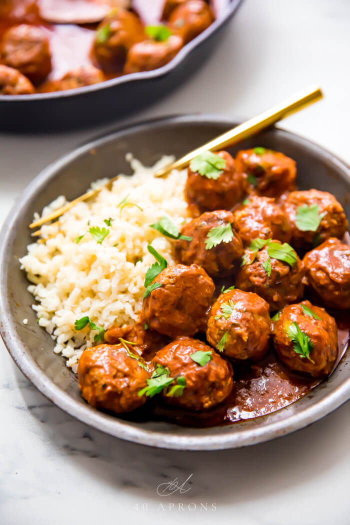 14 Indian Meatballs with Tomato Creamy Sauce
