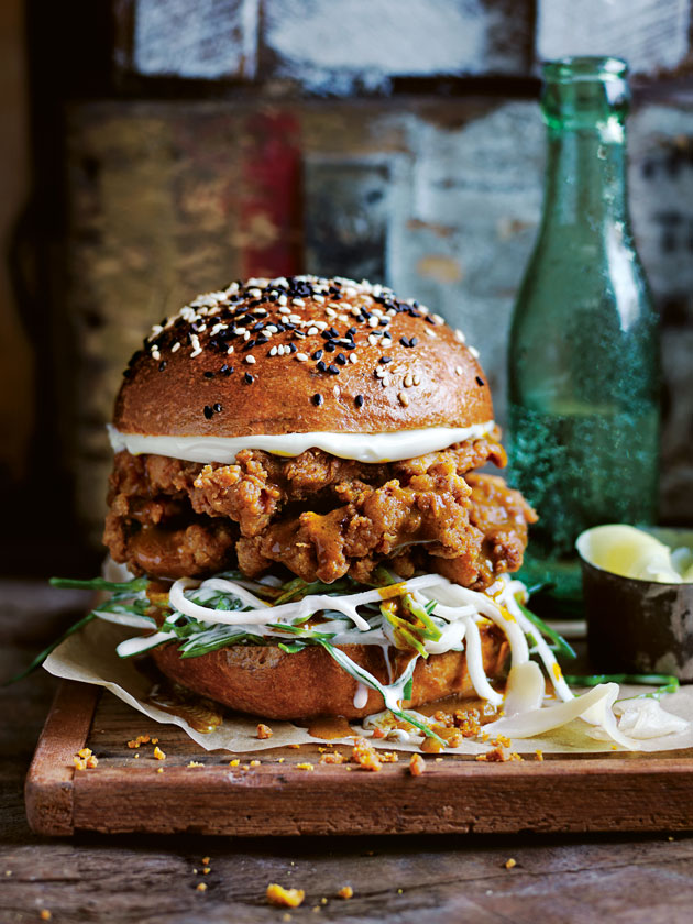 14 Katsu Curry Fried Chicken Burger