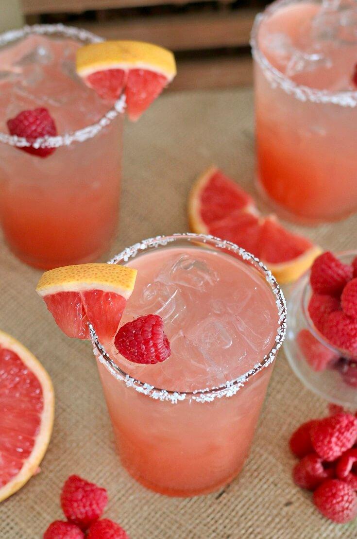 14 Raspberry Grapefruit Margarita