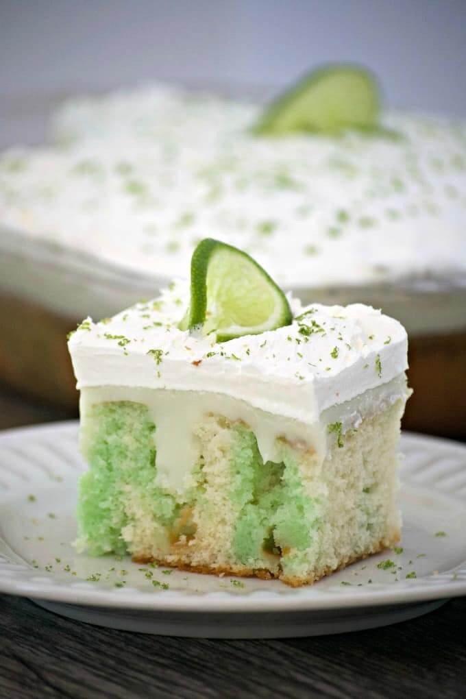 15 Key Lime Poke Cake