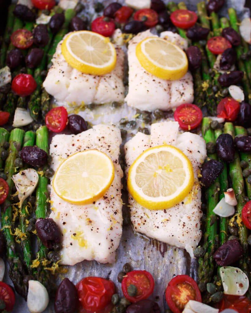 15 One Pan Roasted Mediterranean Cod