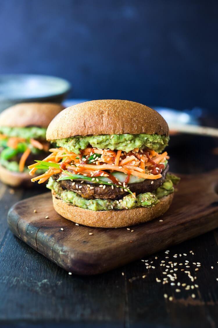 15 Spicy Miso Portobello Mushroom Burger