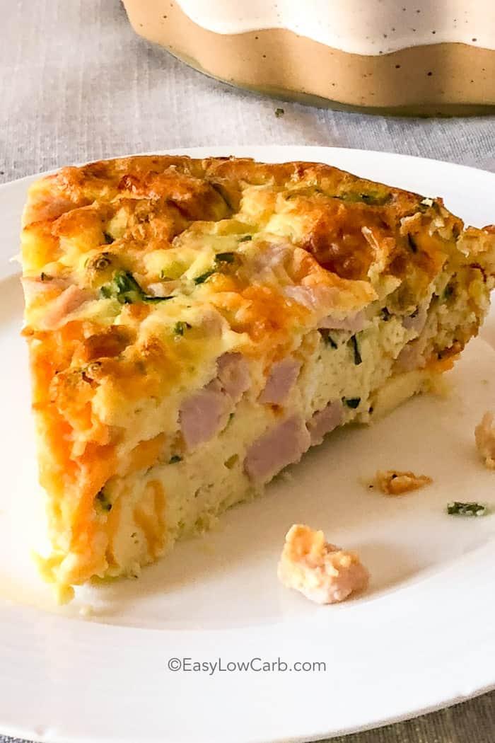 2 Crustless Ham and Cheese Quiche
