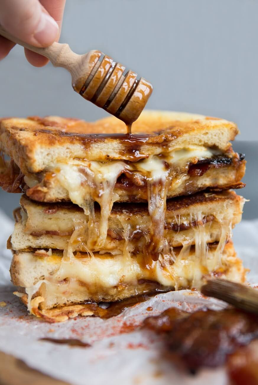 2 Maple Bacon Grilled Cheese Sandwich