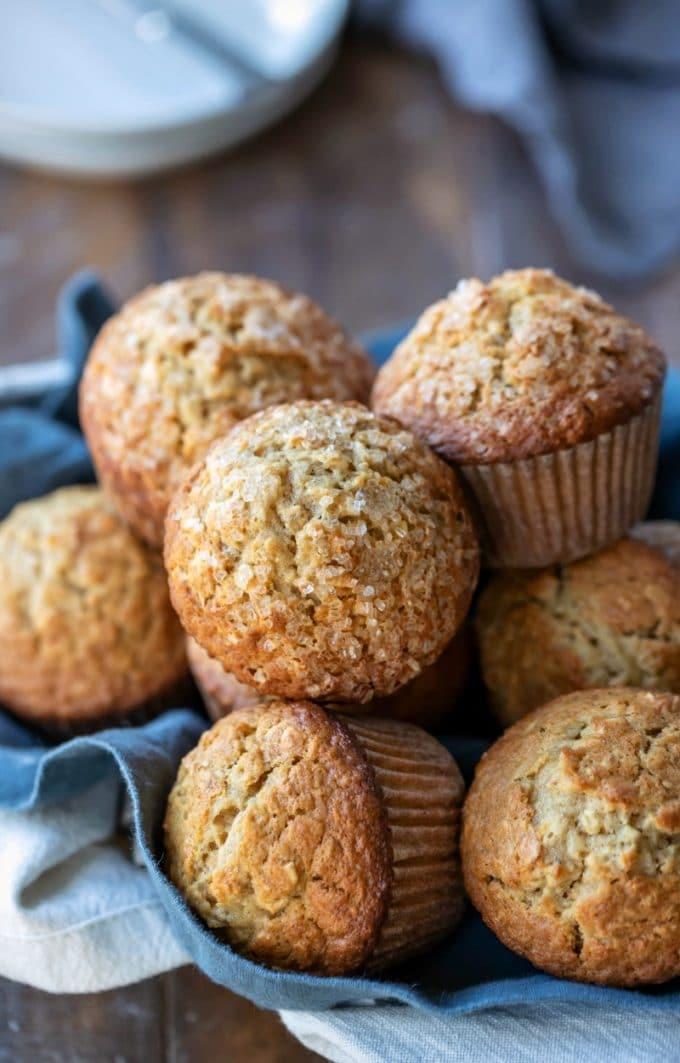 2 Maple Brown Sugar Oatmeal Muffins