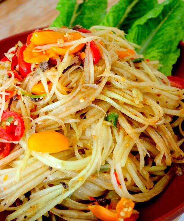 2 Spicy Green Papaya Salad