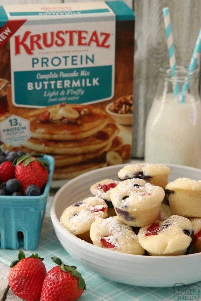 #22 Berry Protein Pancake Bites