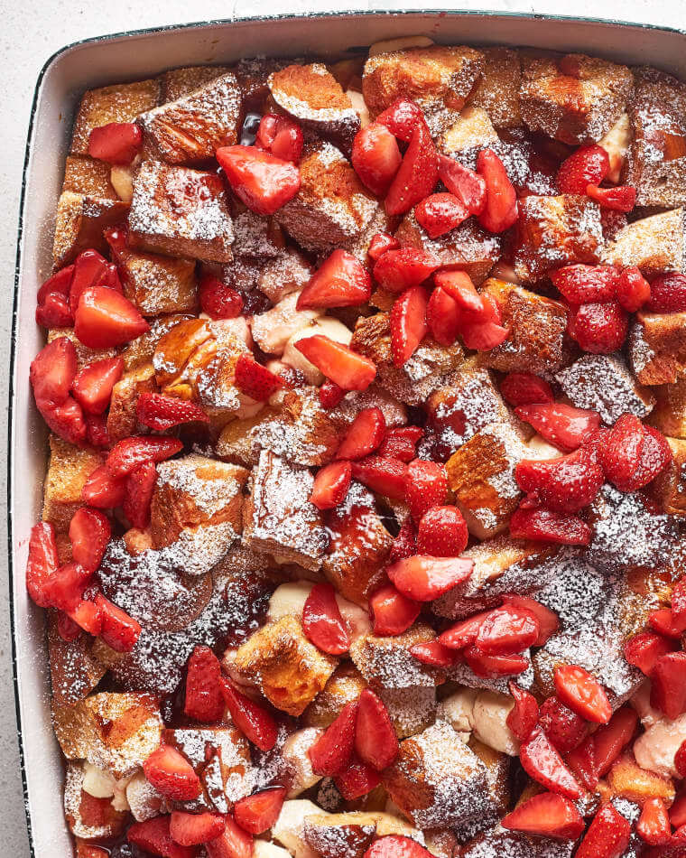 Strawberries & Cream French Toast Casserole