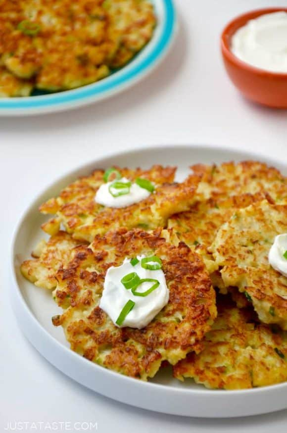 29 Healthy Cauliflower Fritters with Eggs