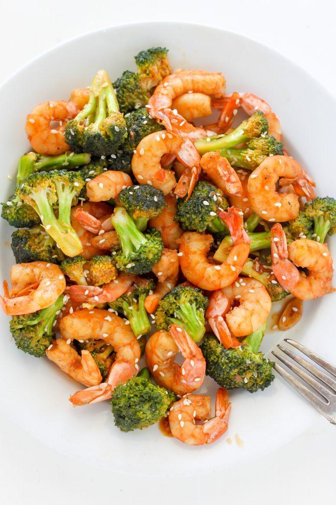 3 20 Minute Sriracha Shrimp and Broccoli Stir Fry