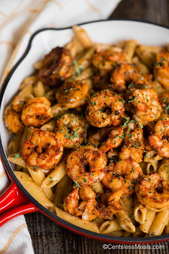 3 Cajun Shrimp Pasta