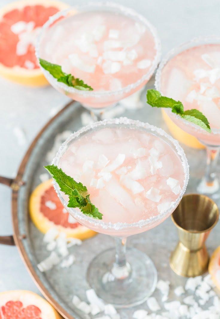 3 Coconut Grapefruit Margaritas
