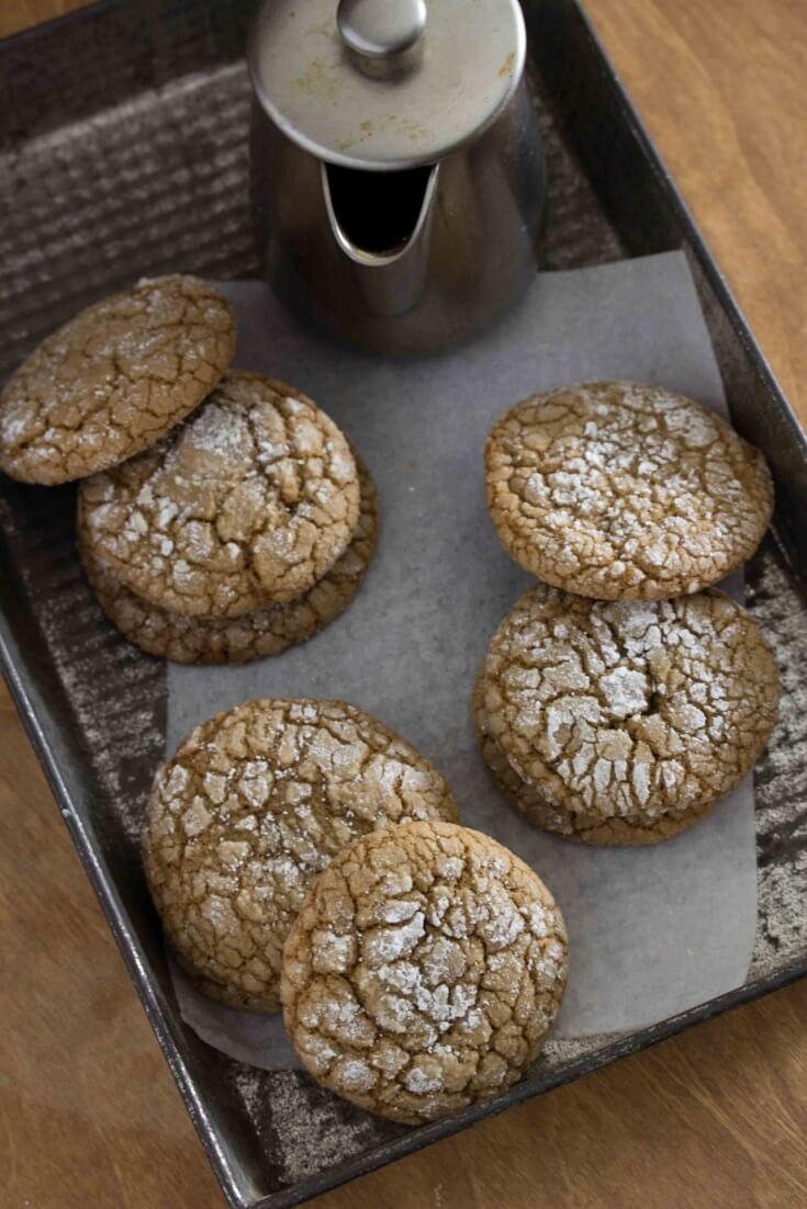 3 Coffee Crinkle Cookies