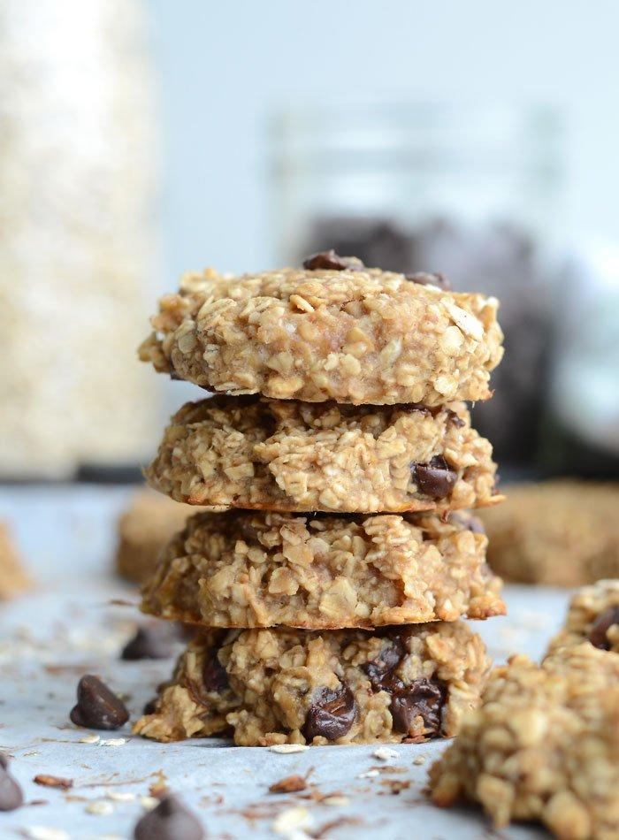 3 Flourless Peanut Butter Banana Oatmeal Cookies rv