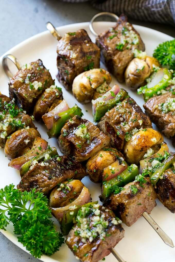 Garlic Steak Kabobs