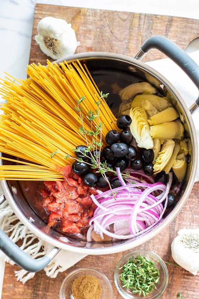 3 Mediterranean One Pot Pasta